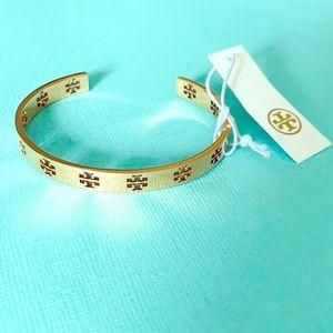 Tory Burch Rose Gold Cuff Bracelet